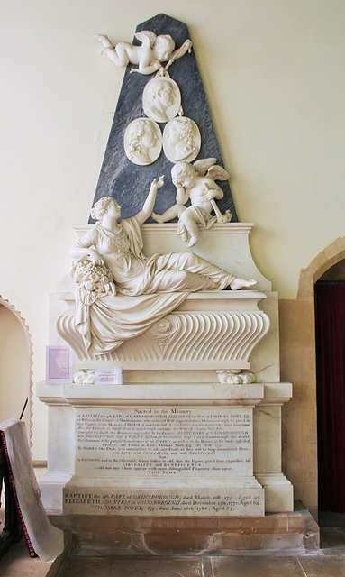 Memorial to the 4th Earl of Gainsborough, St Peter & St Paul's Church, Exton, Rutland