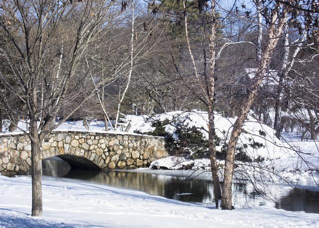 Stone bridge at Binney Park, Stamford, Connecticut