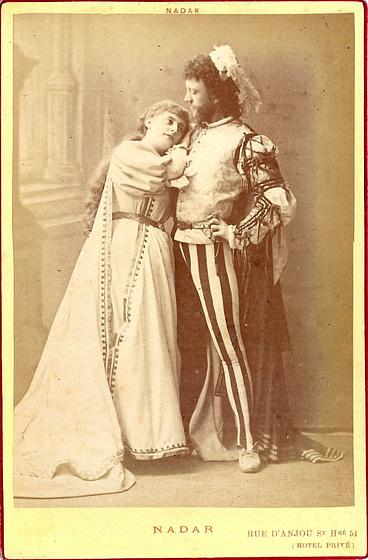 Marie Heilbronn & Paul L'Herie by Nadar