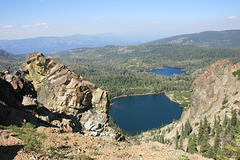 Round Lake (foreground) and Big Bear Lake