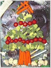 Vegetable Christmas Tree...