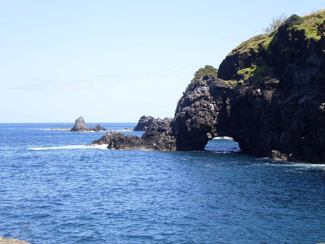 Details of rugged volcanic coast.