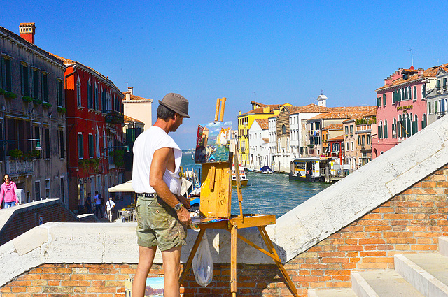 pintando en Venecia
