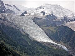 Chamonix (74) 28 août 2012. Le glacier des Bossons.