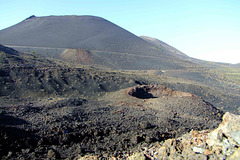 Subsidiary crater of Teneguia and volcano Antonio