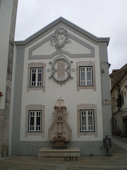 Façade with fountain.
