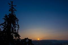 Sonnenaufgang am 2. März 2018 über Winterthur (© Buelipix)