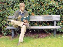 Lesen am Alsterpark in Hamburg*