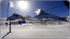 Zermatt : un controluce  sul Cervino