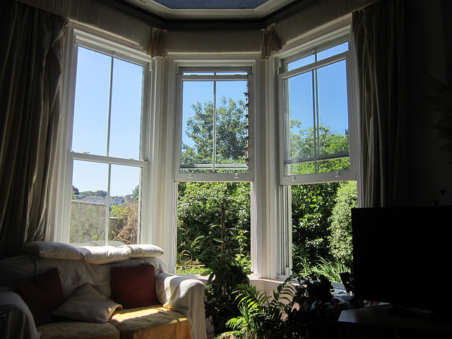 Having two large windows open - wow
