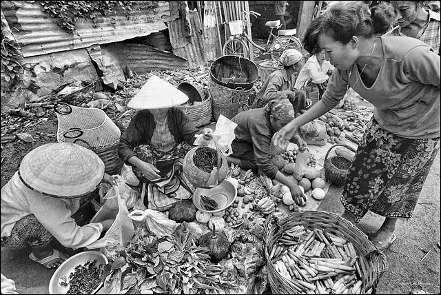 Marché paysan à Vientiane