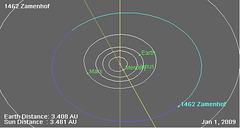 Asteroido n-ro 1462 nomita Zamenhof