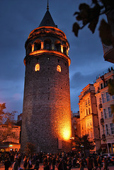 Galata Tower, Istanbul, on Republic Day!