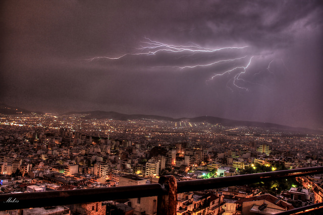 Lightning in the city!
