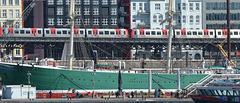 Hamburger Hafen: Museumsschiff Rickmer Rickmers
