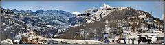 Zermatt : panoramica verso le piste in quota