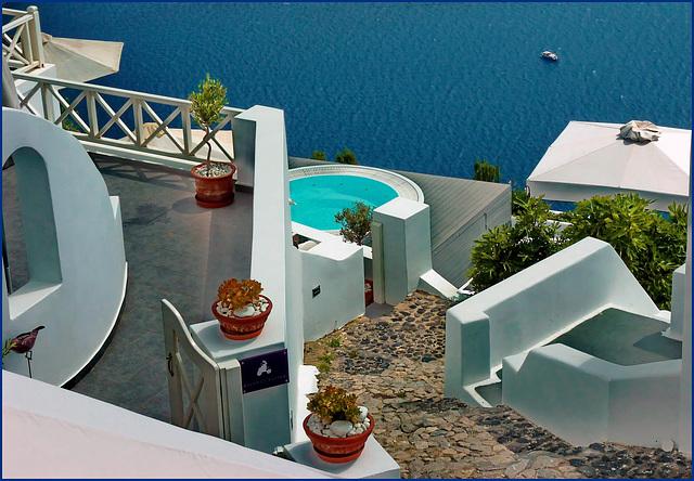 Santorini : Oia, lussuose villette sul mare - (999)