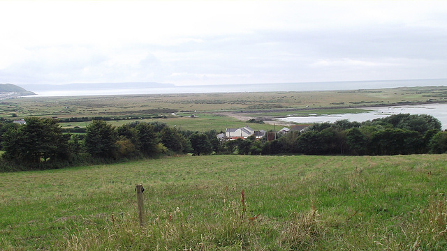 View of the Burrows and the golf course