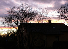 lichter Sonnenuntergang