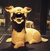 Dog Terracotta Sculpture in the Metropolitan Museum of Art, July 2017