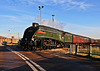 """LNER class A4 no 60009 """"Union Of South Africa"""" arrives at Lincoln for the Christmas market  8th December 2012"""