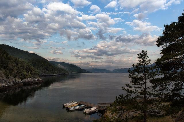 Wolken überm Trondheimfjord