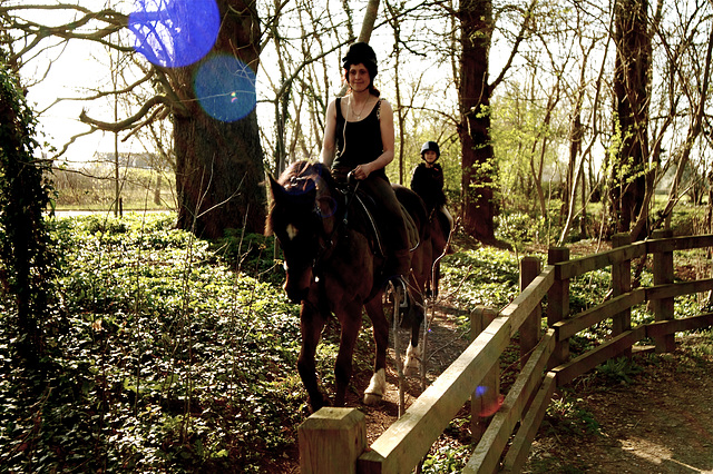 Horse Riding With Flare
