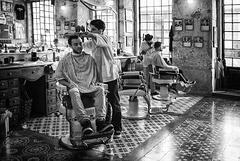 Salon de coiffure.....
