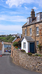 Road to Crail Harbour