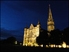Salisbury Cathedral by night