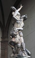 Le viol des femmes Sabines - Marbre de Giambologna - Florence
