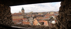 Eger Panorama through Castle Embrasure