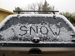 Snowing Here