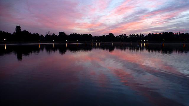 Ce matin au lac de l'Orée de Sologne...