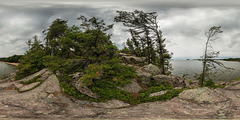 Cloudy Summer Afternoon at Killbear Provincial Park (360degree view)