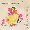 Duck Easter card