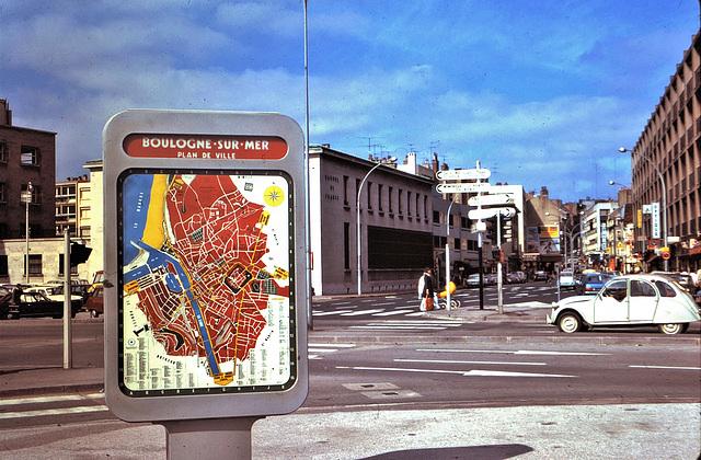 Boulogne-sur-Mer (62) 25 juin 1975. (Diapositive numérisée).
