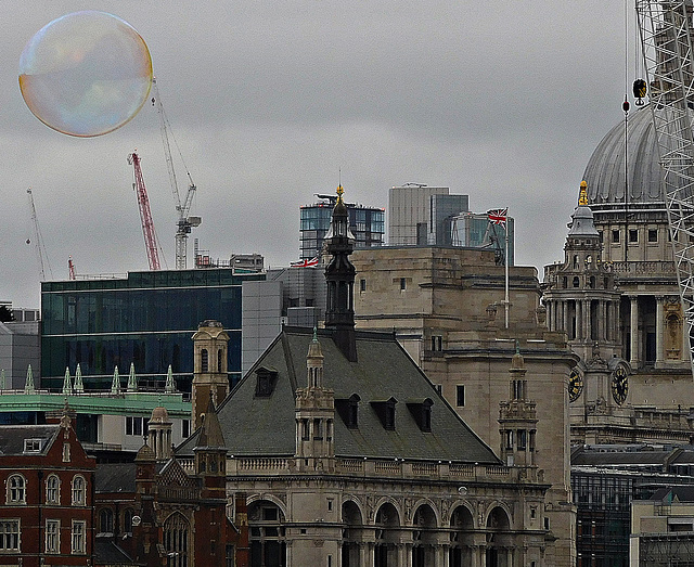 St Pauls and a bubble