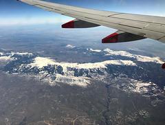 Flying over Spain