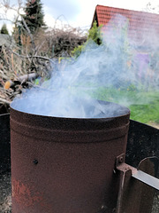 Smoke, like fog in my garden ;)