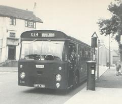 Ribble 548 (ARN 548B) at Littleborough - Late summer 1966
