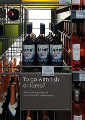 fish or lamb?