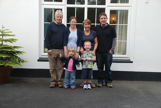 My wonderful neighbours - Ann and Peter with their family
