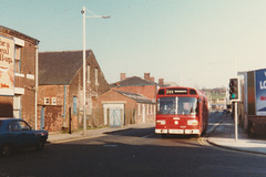 Ribble Leyland National on Mellor Street, Rochdale - 18 Apr 1981