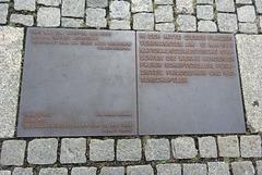 Memorial plaque to May 10, 1933 Nazi Book Burning in Bebelplatz, Berlin.