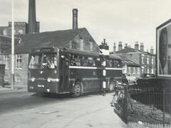 Ribble 378 (ERN 701) on Mellor Street, Rochdale - early 1960s