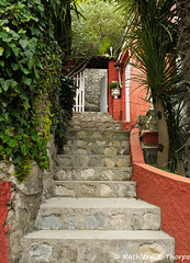 Lugano - Village of Gandria steps - 060514-028