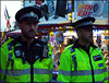 high viz cops in lurid green