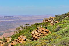P1270139- Du sommet, Rando Rawnsley Bluff - Flinders Ranges.  07 mars 2020