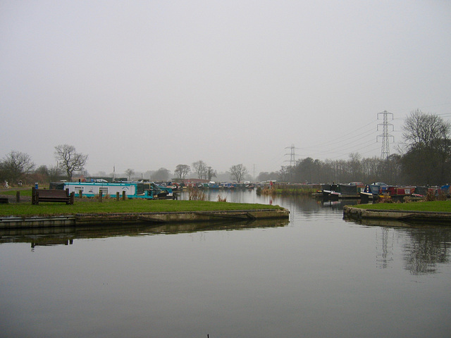 Grey day at King's Bromley Wharf on the Trent and Mersey Canal.